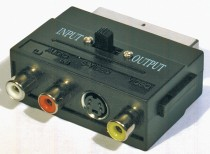 adaptér SCART-3CINCH+SVHS  *K9304
